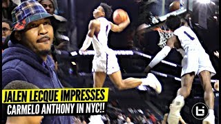 Download Jalen Lecque Jumps OVER Player w/ Carmelo Anthony Watching!! Brewster Shows OUT in NYC!! Video