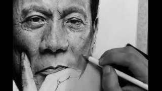 Download Rodrigo Duterte - Charcoal Drawing Video
