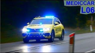 Download region hovedstaden NEF L06 læge ambulance i udrykning notarzt auf einsatzfahrt Video