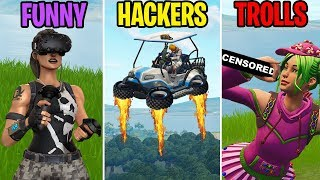 Download FLYING ATKS? FUNNY vs HACKERS vs TROLLS! Fortnite Battle Royale Funny Moments Video