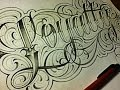 Download Loyalty Fancy Cursive Tattoo Style Letters Video