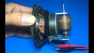 Download Experiment high speed DC motor with speaker Video