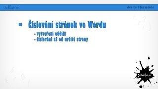 Download Číslování stránek ve wordu Video