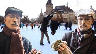 Download Old Man Ice Skating Prank PART 2 / Backflip on ice / Acroice Video