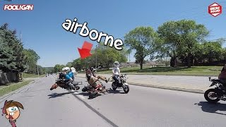 Download Groms COLLIDE at 45mph | Angry Ex-Cop | 125 Stunts Video
