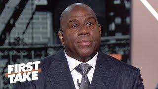 Download Magic Johnson says Lakers GM was 'backstabbing', Luke Walton firing was the final straw   First Take Video