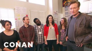 Download Conan Hangs Out With His Interns Video