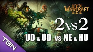 Download Warcraft 3 : 2v2 - UD (Senseless) & UD (Hrebu) vs HU (TheLord) & NE (Gne) Video