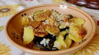 Download Pasta Grannies cook a potato, mussel and rice bake called Tajedda Video