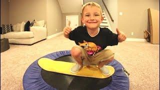 Download FATHER SON TRAMPOLINE CARPET BOARDING! Video
