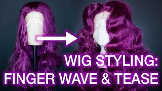 Download Curling and Teasing Synthetic Wigs: Centre Part Wig Styling Tutorial Video