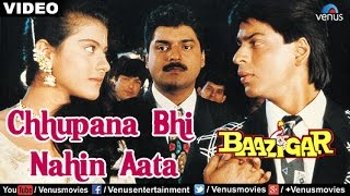 Download Chhupana Bhi Nahin Aata Full Video Song | Baazigar | Shahrukh Khan, Kajol | Vinod Rathod Video