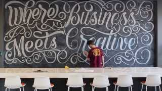 Download Hand Lettering 200 sq. ft. Chalkboard Time-Lapse | At Zion & Zion Video