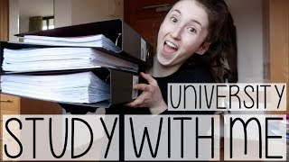 Download STUDY WITH ME AT UNIVERSITY #001 | FOLDER ORGANISATION HACKS + ADVICE Video