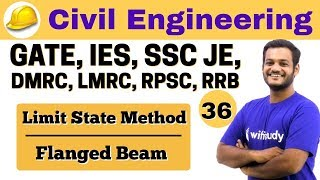 Download 3:00 PM - Civil by Nikhil Sir | Day #36 | Limit State Method Flanged Beam Video