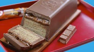 Download GIANT Caramel KitKat CHUNKY Candy Bar! Huge Kit Kat Chocolate Bar Recipe | My Cupcake Addiction Video