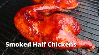 Download Smoked Half Chicken | Recipe for BBQ Chicken Halves on the Big Green Egg Video