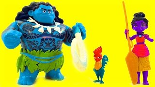Download BLUE MAUI Disney Moana Color Mix-Up Rare Toy Game Finger Family Kids Nursery Rhymes Video