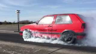 Download VW Golf Mk2 R33 Turbo 4motion 1000+HP Speedmakers - Vogtland Turboscheune Test & Tune 12.04.2015 Video