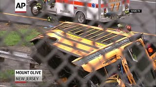 Download 2 Killed, Dozens Injured in NJ School Bus Crash Video
