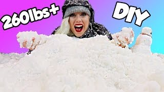 Download INSANE 260lbs+ DIY SNOW! Holiday Fun Sledding Inside My House!! 100+ Video