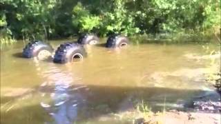 Download Truck Accidentally Rolls/Flips Over In Mud Going Uphill Video