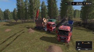 Download Farming simulator 2017 Timelapse #3   Logging on The valley the old farm Video