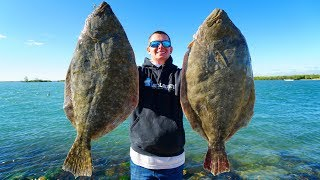 Download 2 Record BREAKING Fish in 1 Day! Catch Clean Cook (GIANT Flounder) Video