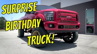 Download Justin's Surprise Brithday Truck Video