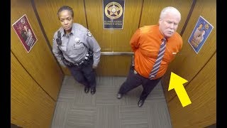 Download This Cop Thought They Were Alone In Elevator, Doesn't Know Hidden Camera Is Recording His Every Move Video