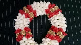 Download Colorful jasmine garland for bridal hairdo.(கொண்டை வளைவு) Video