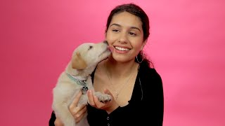 Download Alessia Cara Plays With Puppies While Answering Fan Questions Video
