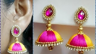 Download Simple and Beautiful Silk thread earrings    Available at beautyinustores    Video