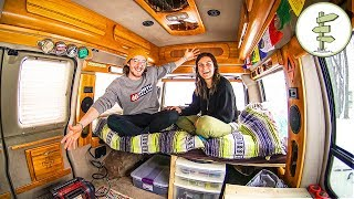 Download Couple Starts Van Life After Quitting Their Jobs & Downsizing to a Minimalist Camper Van Video