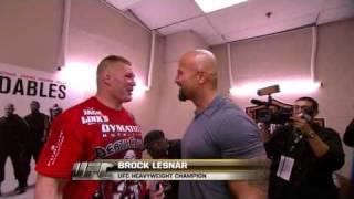 Download ufc brock Lesnar and the rock hug Video
