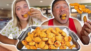 Download TRYING TO EAT 100 CHICKEN NUGGETS! // SoCassie Video