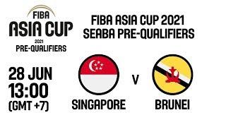 Download Singapore v Brunei - Full Game - FIBA Asia Cup 2021 - SEABA Pre-Qualifiers Video