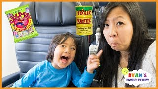 Download Super Sour Candy Challenge Kid on the Airplane with Rock Scissors paper Video