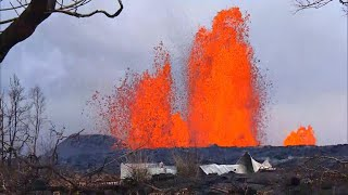 Download Lava flow from Kilauea volcano is reforming Hawaii coastline Video