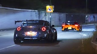 Download Veilside Mazda RX7 and Liberty Walk Nissan GT-R on the street Video