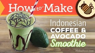 Download Indonesian Coffee Avocado Smoothie - Es Alpukat Recipe Video