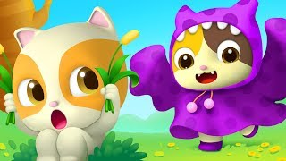 Download Baby Kitten Pretend as Big Monster | Color Song | Nursery Rhymes | Baby Songs | Education | BabyBus Video