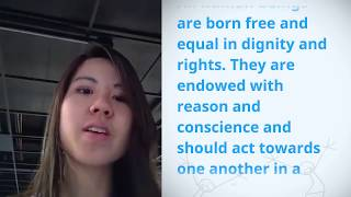 Download Monica Chan, Singapore, reading article 1 of the Universal Declaration of Human Rights Video