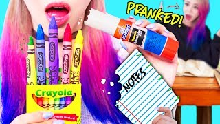 Download DIY Edible Pranks Using School Supplies! For Back To School 2017! Video