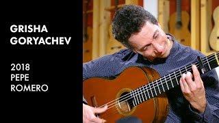 Download Paco de Lucia's ″Almoraima″ played by Grisha Goryachev on a 2018 Pepe Romero Video