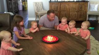 Download Priceless reaction to daddy blowing the candles out Video