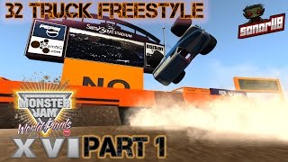 Download BeamNG.drive Monster Jam: World Finals 16 (Part 1) 16 Truck Freestyle Video