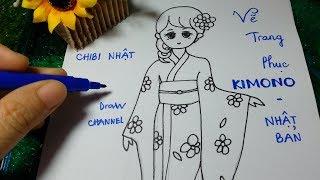 Download Vẽ Thời trang Nhật Bản/ Cách vẽ chibi Nhật/ Vẽ đồ Kimono Video