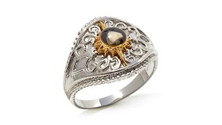 Download Michael Anthony Jewelry 2Tone Nativity Stone Ring Video