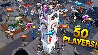 Download 50 PLAYERS on Clock Tower! - Fortnite Funny WTF Fails and Daily Best Moments Ep.916 Video